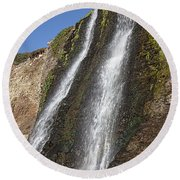 Alamere Falls Pacific Coast Round Beach Towel