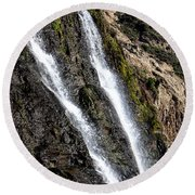 Alamere Falls Two Round Beach Towel