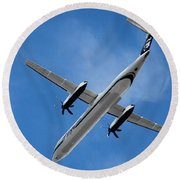 Alaska Airlines Turboprop Wide Version Round Beach Towel