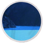 Alaska Rhapsody In  Blue Round Beach Towel