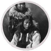 Alaska Eskimos, C1903 Round Beach Towel