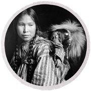 Alaska Eskimos, C1912 Round Beach Towel
