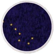 Alaska Flag Round Beach Towel