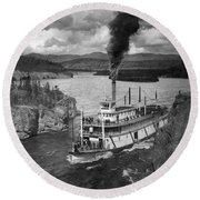Alaska Steamboat, 1920 Round Beach Towel