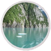 Alaska Teal Tranquility Round Beach Towel