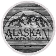 Alaskan Brewing Round Beach Towel