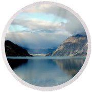 Alaskan Splendor Round Beach Towel