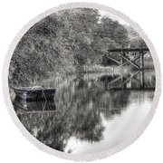 Albergottie Creek Trestle Round Beach Towel