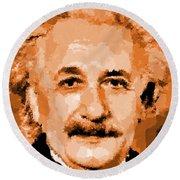 Albert Einstein 01 Round Beach Towel