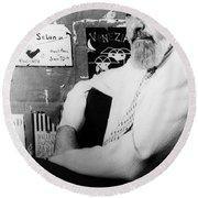 Albert Hirschfeld (1903-2003) Round Beach Towel