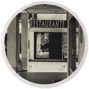 Albufeira Street Series - Restaurante Round Beach Towel