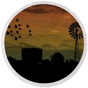 Albury At Night Round Beach Towel