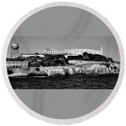Alcatraz Federal Prison Round Beach Towel by Benjamin Yeager