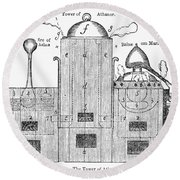 Alchemy: Tower Of Athanor Round Beach Towel