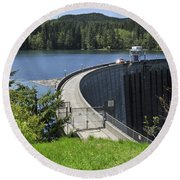 Alder Dam 2 Round Beach Towel