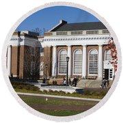 Alderman Library University Of Virginia Round Beach Towel