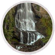 Alexander Falls - Whistler Bc Round Beach Towel