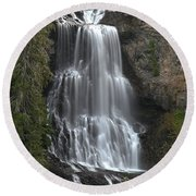 Alexander Falls - Whistler British Columbia Round Beach Towel