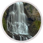 Alexander Falls Recreation Site - Whistler Bc Round Beach Towel