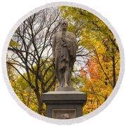Alexander Hamilton Statue Round Beach Towel