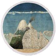 Alexander Von Humboldts Chimborazo Map Round Beach Towel
