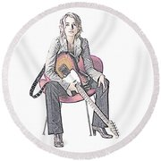 Alexz Johnson Round Beach Towel