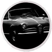 Alfa Romeo 1600 Giulia Spider Round Beach Towel
