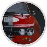 Alfa Romeo Gtv  Round Beach Towel