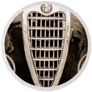 Alfa Romeo Milano Grille Emblem Round Beach Towel