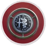1961 Alfa Romeo Giulietta Sprint Veloce Series II Emblem -1045c Round Beach Towel
