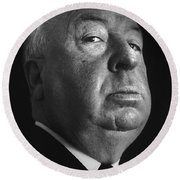 Alfred Hitchcock Round Beach Towel by Studio Photo