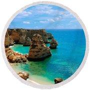Algarve Beach - Portugal Round Beach Towel