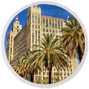 Alhambra Towers - 2 Round Beach Towel