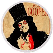 Alice Cooper 1 Round Beach Towel