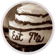 Alice's Eat Me Cake  Round Beach Towel