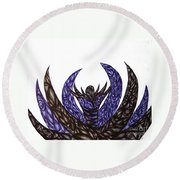 Alien Flower Round Beach Towel