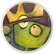 Alien King Round Beach Towel