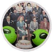 Alien Nostalgia Round Beach Towel