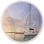 Alimos Reflections Round Beach Towel