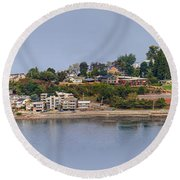 Alki Point Round Beach Towel