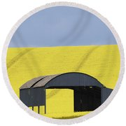 All Across The Land 4 Round Beach Towel