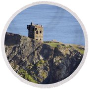All Along The Watchtower - Bunglass Donegal Ireland Round Beach Towel