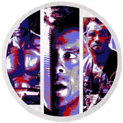 All-american 80's Action Movies Round Beach Towel by Dale Loos Jr