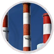 All American Industry Round Beach Towel