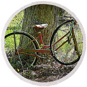 All Bike Out Round Beach Towel