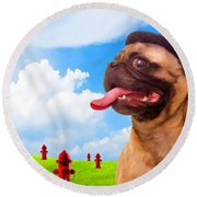 All Dogs Go To Heaven Round Beach Towel