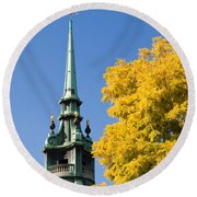 All Hallows By The Tower Round Beach Towel