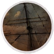 All I Ask Is A Tall Tall Ship Round Beach Towel