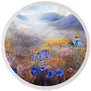 All In A Dream - Impressionism Round Beach Towel