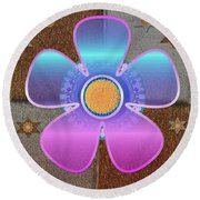 All In With Colors Round Beach Towel